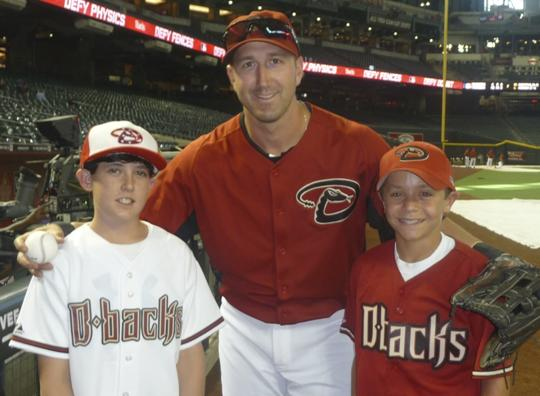 Willie Bloomquist with Abe Speck